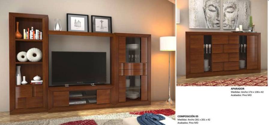 Muebles de madera de roble muebles los barriales - Muebles color roble ...