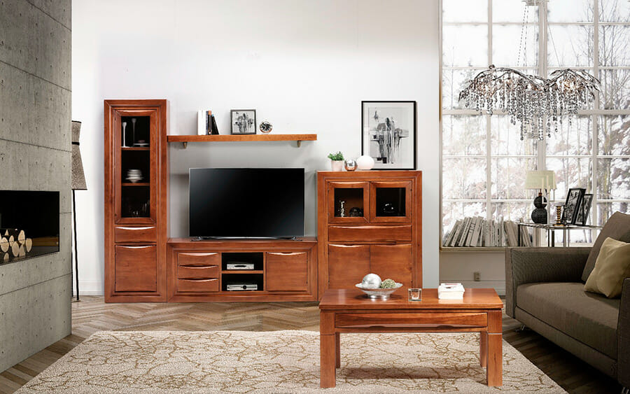 salones Muebles los barriales 2019 mueble madera 100 maciza de pino2
